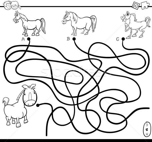 maze task coloring page Stock photo © izakowski