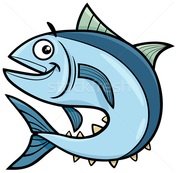 tuna fish cartoon character Stock photo © izakowski