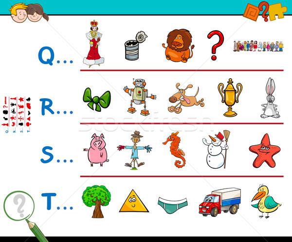 first letter of a word educational worksheet Stock photo © izakowski
