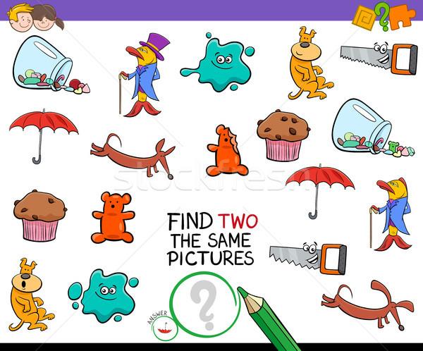 Trouver deux identique photos activité jeu Photo stock © izakowski
