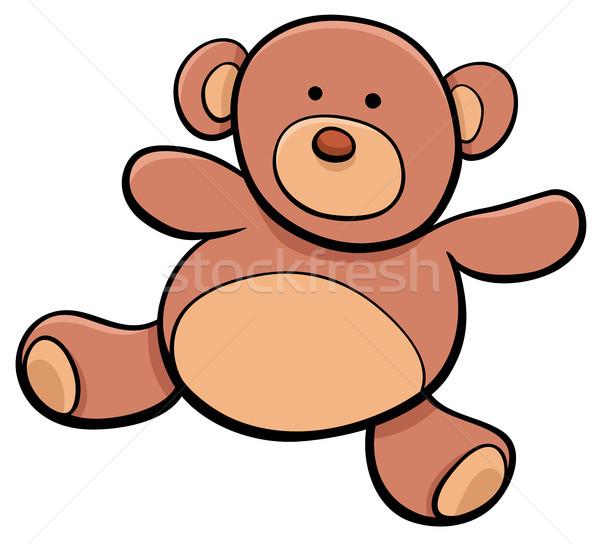 Teddybär Karikatur Spielzeug Clip Art Illustration glücklich Stock foto © izakowski