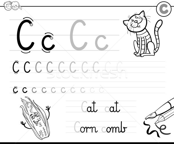 learn to write letter C workbook for children Stock photo © izakowski