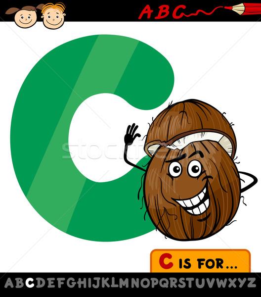 Letra c coco desenho animado ilustração alfabeto Foto stock © izakowski