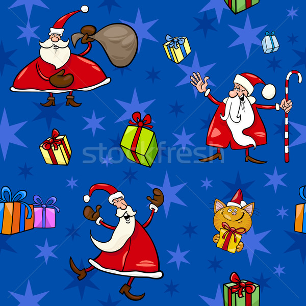 christmas cartoon seamless pattern decor Stock photo © izakowski