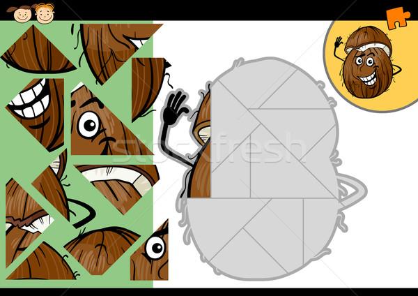 Cartoon coco jeu illustration éducation Photo stock © izakowski