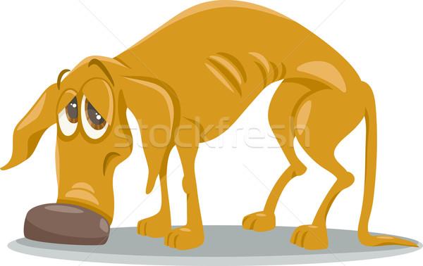 печально бездомным собака Cartoon иллюстрация животного Сток-фото © izakowski