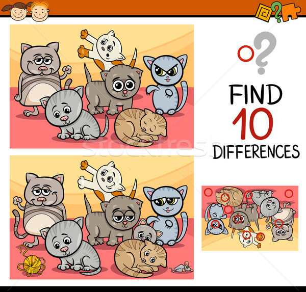 finding differences game cartoon Stock photo © izakowski