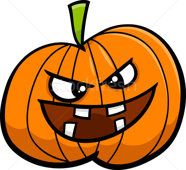 jack o lantern cartoon illustration Stock photo © izakowski