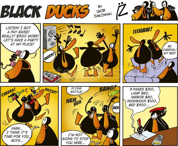 Black Ducks Comics episode 47 Stock photo © izakowski