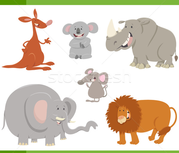 cartoon animals set illustration Stock photo © izakowski