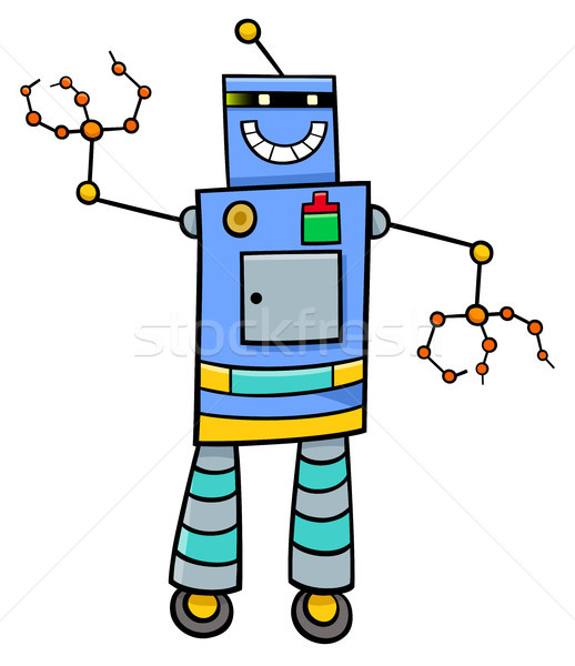 cartoon robot fantasy character Stock photo © izakowski