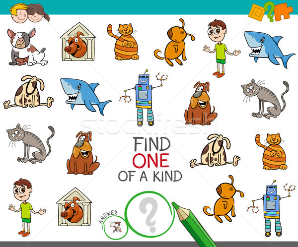 find one picture of a kind activity game Stock photo © izakowski