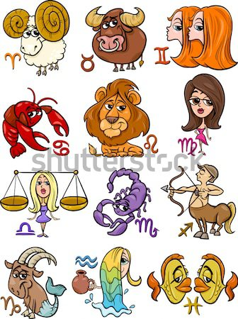 earth and air zodiac signs Stock photo © izakowski