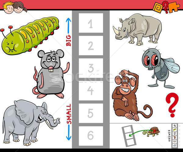 Educativo gioco ragazzi piccolo animali Foto d'archivio © izakowski