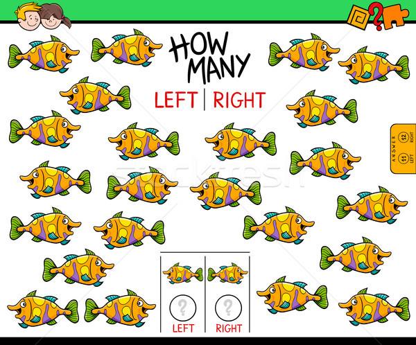 право фотография рыбы образовательный игры Cartoon Сток-фото © izakowski