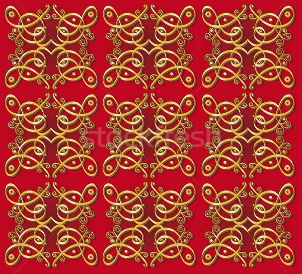 decorative oriental wallpaper background Stock photo © izakowski