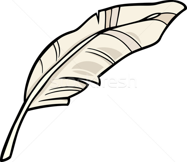 Plumes clipart cartoon illustration blanche art Photo stock © izakowski
