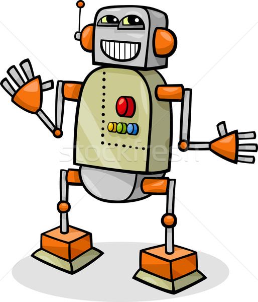 cartoon robot or droid illustration Stock photo © izakowski