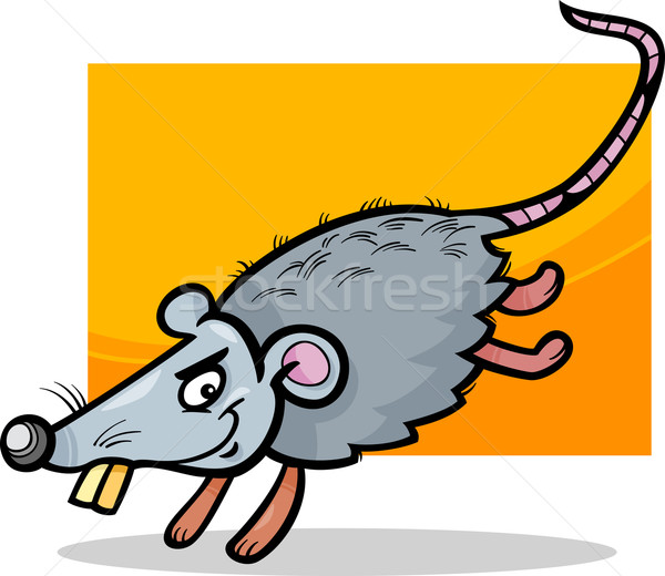mouse or rat cartoon illustration Stock photo © izakowski
