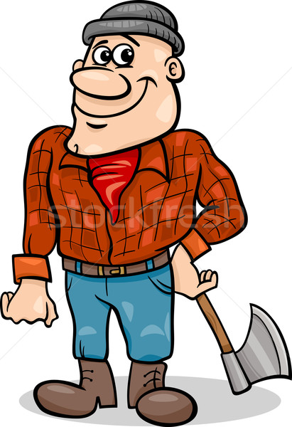 fairy tale lumberjack cartoon illustration Stock photo © izakowski