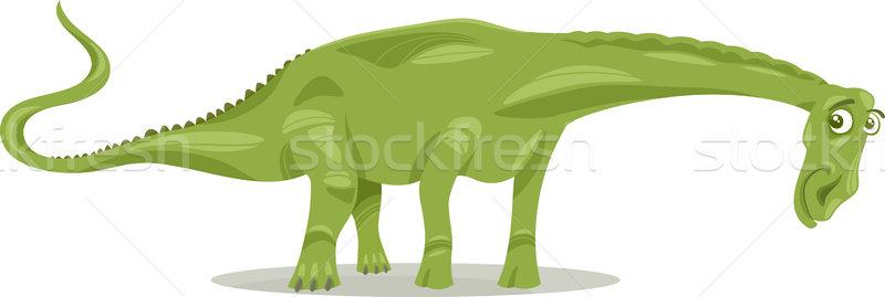 diplodocus dinosaur cartoon illustration Stock photo © izakowski
