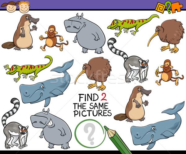 find same picture game cartoon Stock photo © izakowski