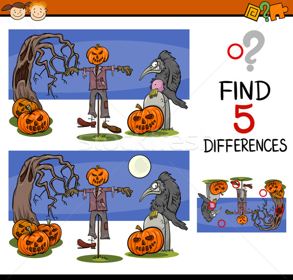 halloween differences task Stock photo © izakowski