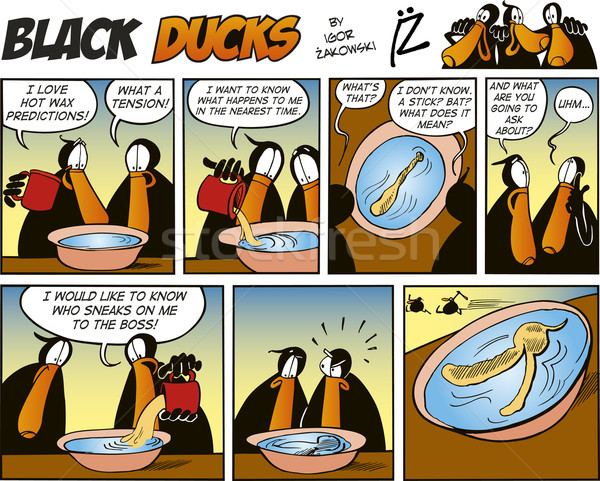Black Ducks Comics episode 20 Stock photo © izakowski