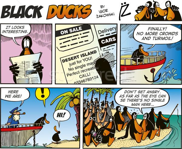 Negro 25 cómico verano océano Foto stock © izakowski