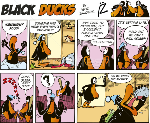 Black Ducks Comics episode 32 Stock photo © izakowski