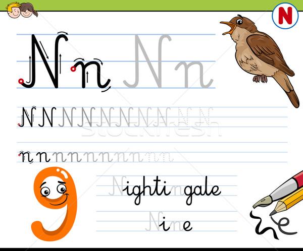 how to write letter n Stock photo © izakowski