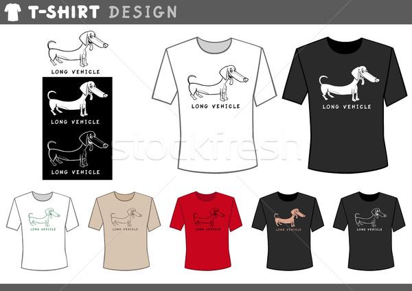 t shirt design with dachshund Stock photo © izakowski