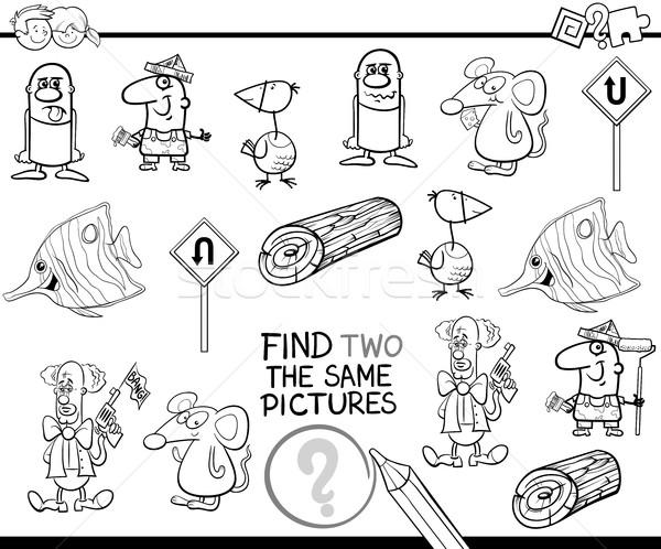 Etkinlik siyah beyaz karikatür örnek bulmak Stok fotoğraf © izakowski