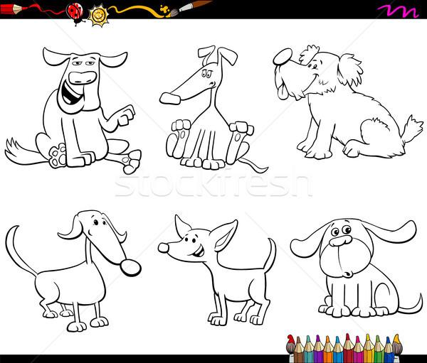 Karikatür köpek köpek yavrusu renk kitap Stok fotoğraf © izakowski