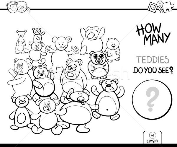 counting teddies game coloring book Stock photo © izakowski