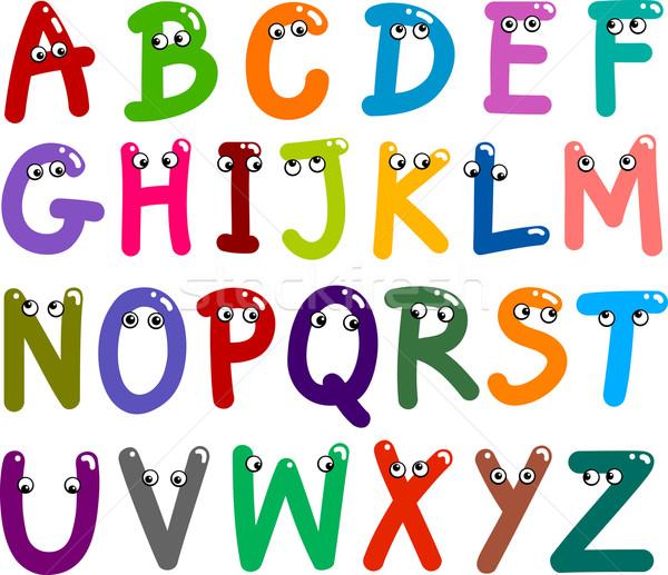 Funny Capital Letters Alphabet Stock photo © izakowski