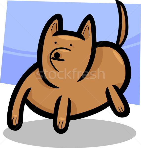 Desenho animado rabisco engraçado cão ilustração cachorro Foto stock © izakowski