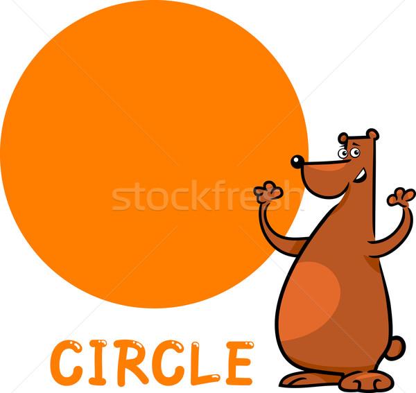 круга форма Cartoon несут иллюстрация фундаментальный Сток-фото © izakowski