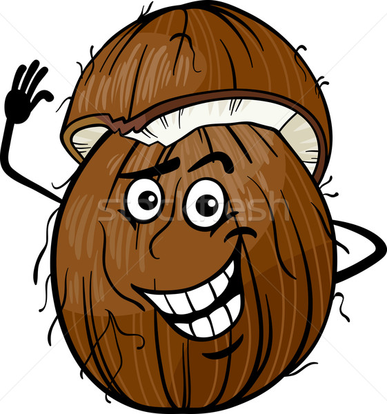 Engra ado coco fruto desenho animado ilustra o - Dessin noix de coco ...