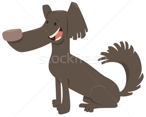 funny dog cartoon animal Stock photo © izakowski