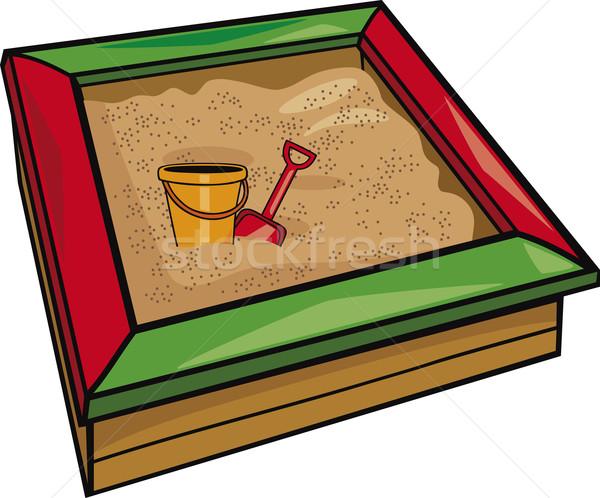 sandbox with toys Stock photo © izakowski