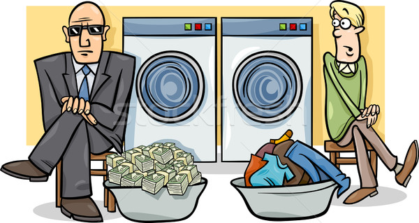 money laundering cartoon illustration Stock photo © izakowski