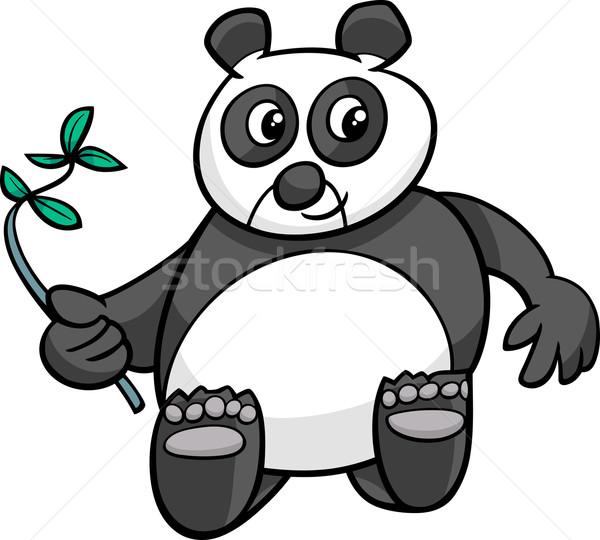 óriás panda rajz illusztráció vicces medve Stock fotó © izakowski