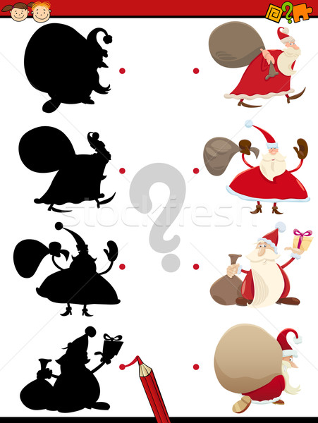 Foto stock: Sombra · tarea · Navidad · Cartoon · ilustración