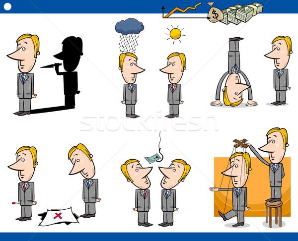 cartoon business concepts set Stock photo © izakowski