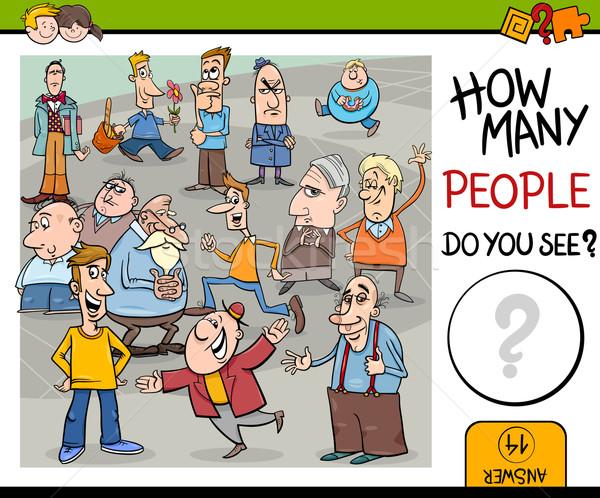 counting people preschool game Stock photo © izakowski