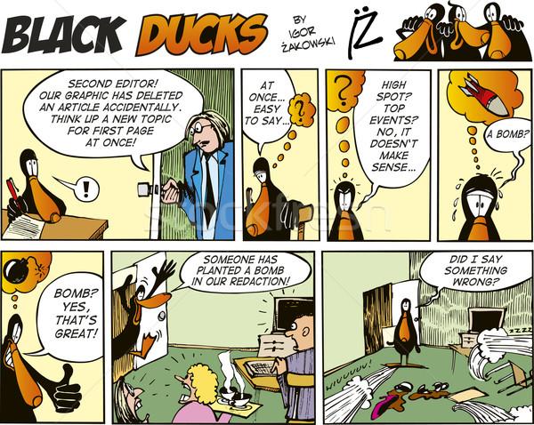 Black Ducks Comics episode 53 Stock photo © izakowski