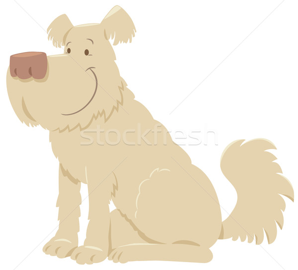 cream shaggy dog cartoon Stock photo © izakowski