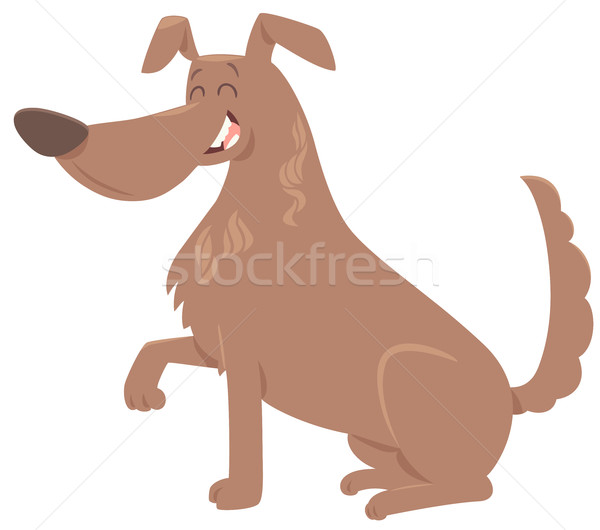 Cão pata desenho animado ilustração bonitinho animal Foto stock © izakowski