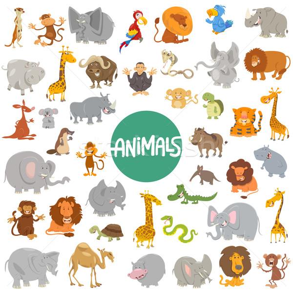 cartoon animal characters big set Stock photo © izakowski